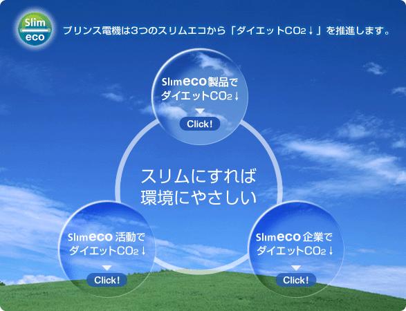 プリンス電機は3つのスリムエコから「ダイエットCO2↓」を推薦